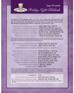 Laminated Guide: Kiddush